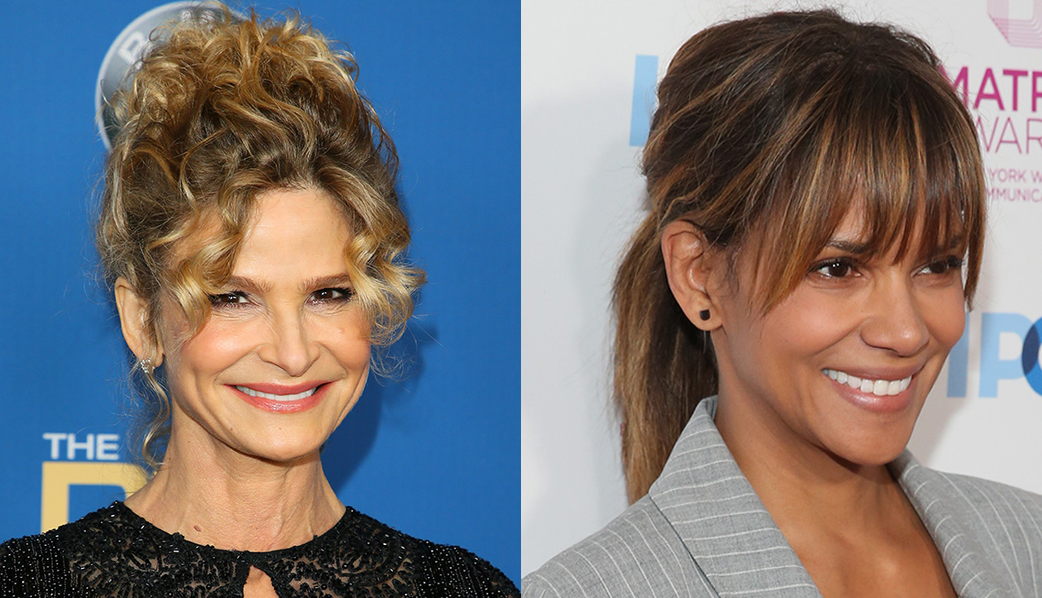 item 8 of Gallery image - Kyra Sedgwick and Halle Berry wearing their hair up.