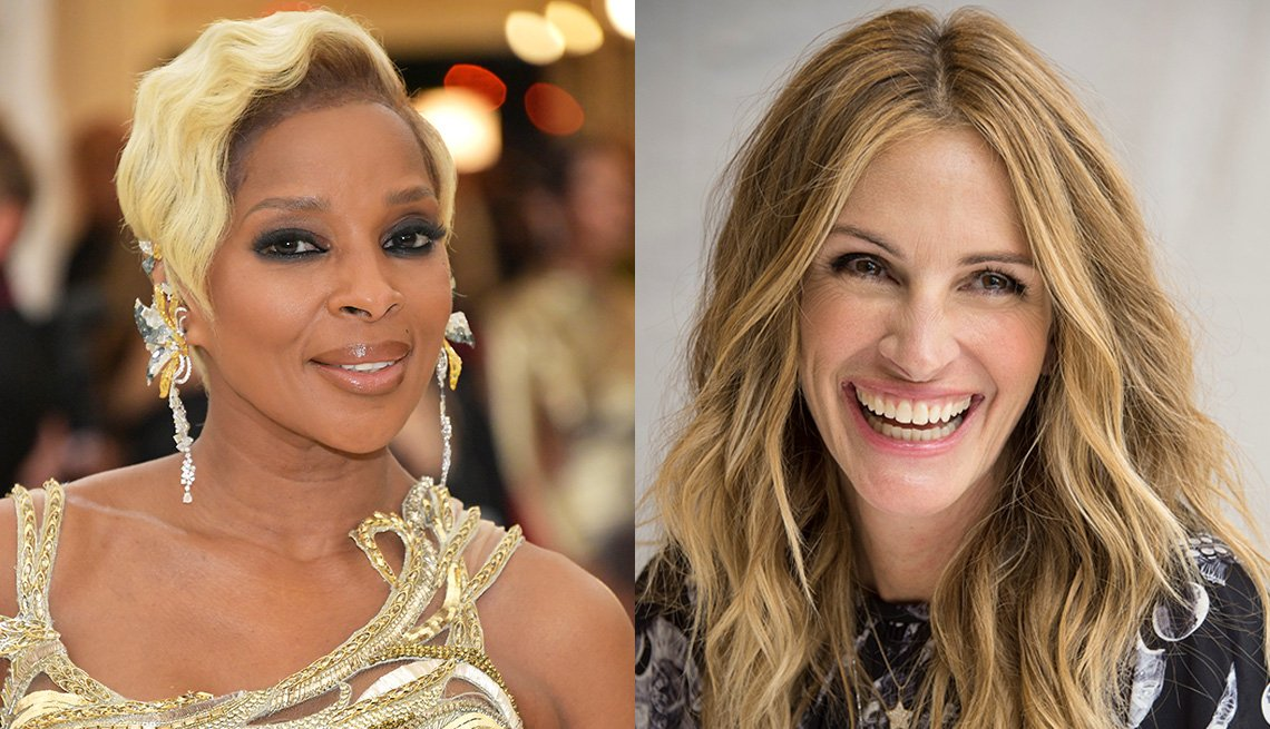 item 4 of Gallery image - Mary J. Blige Julia Roberts with blonde hair.