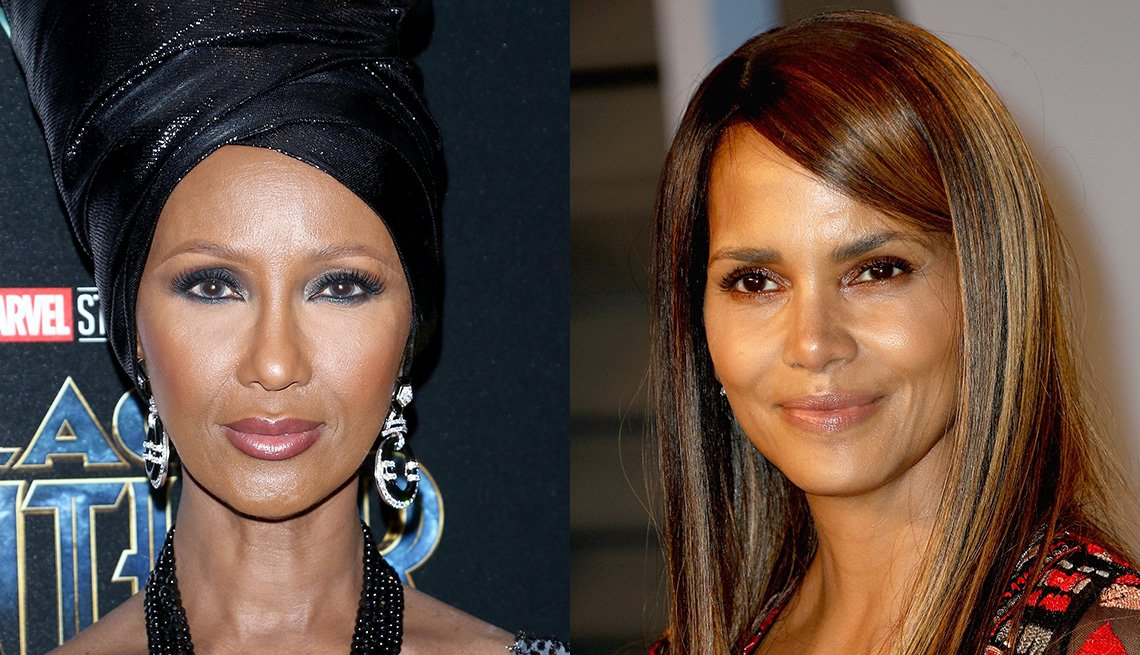 item 11, Gallery image. Iman, Halle Berry