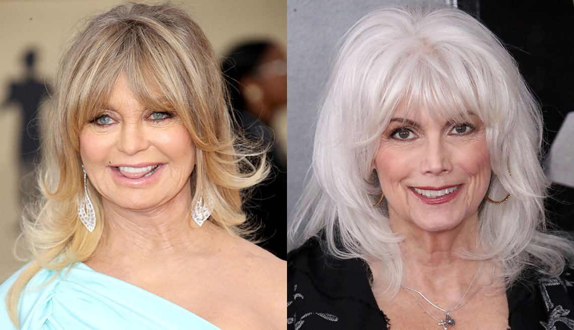 item 4 of Gallery image - Goldie Hawn and Emmylou Harris with bangs.