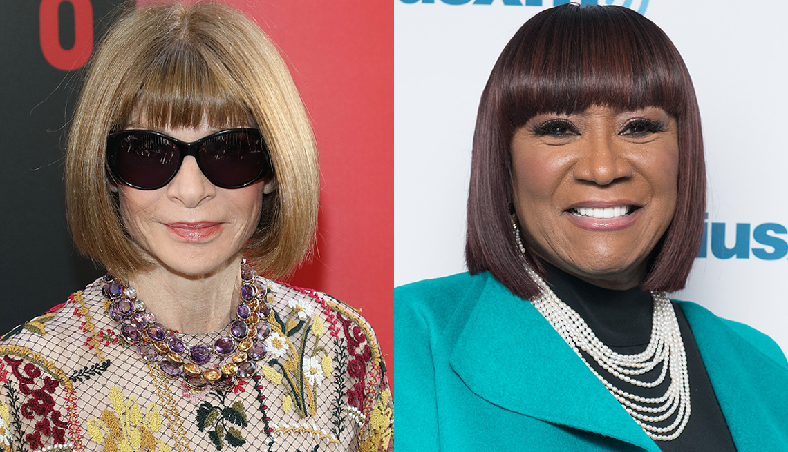 item 6 of Gallery image - Anna Wintour y Patti LaBelle con flequillos