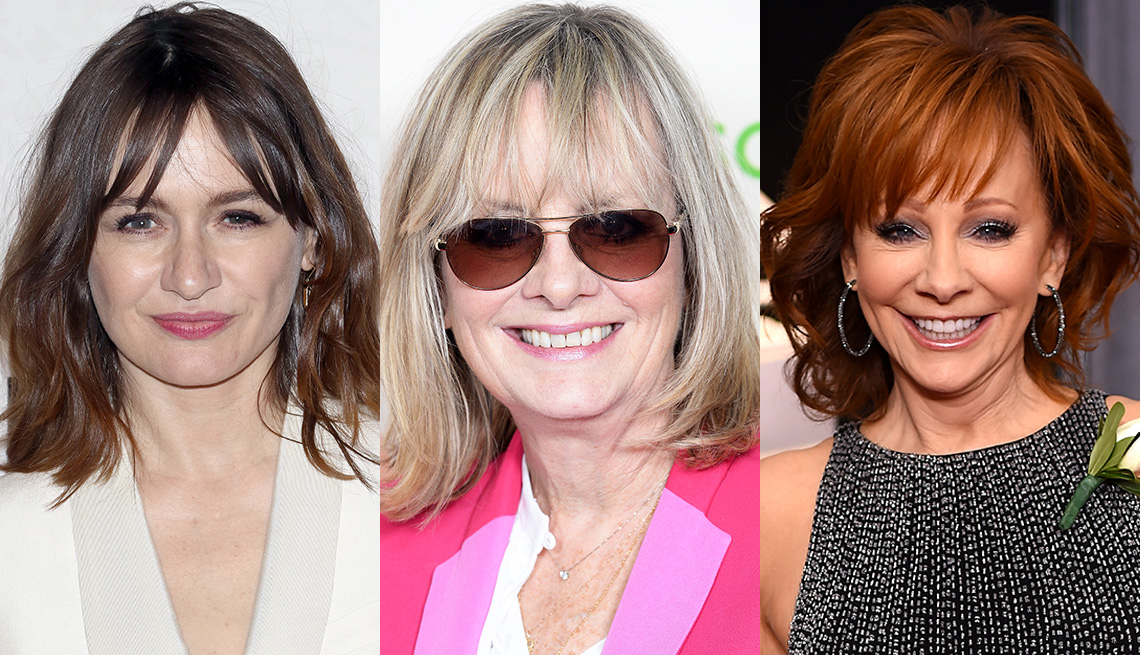 item 8 of Gallery image - Emily Mortimer, Twiggy and Reba McEntire with bangs