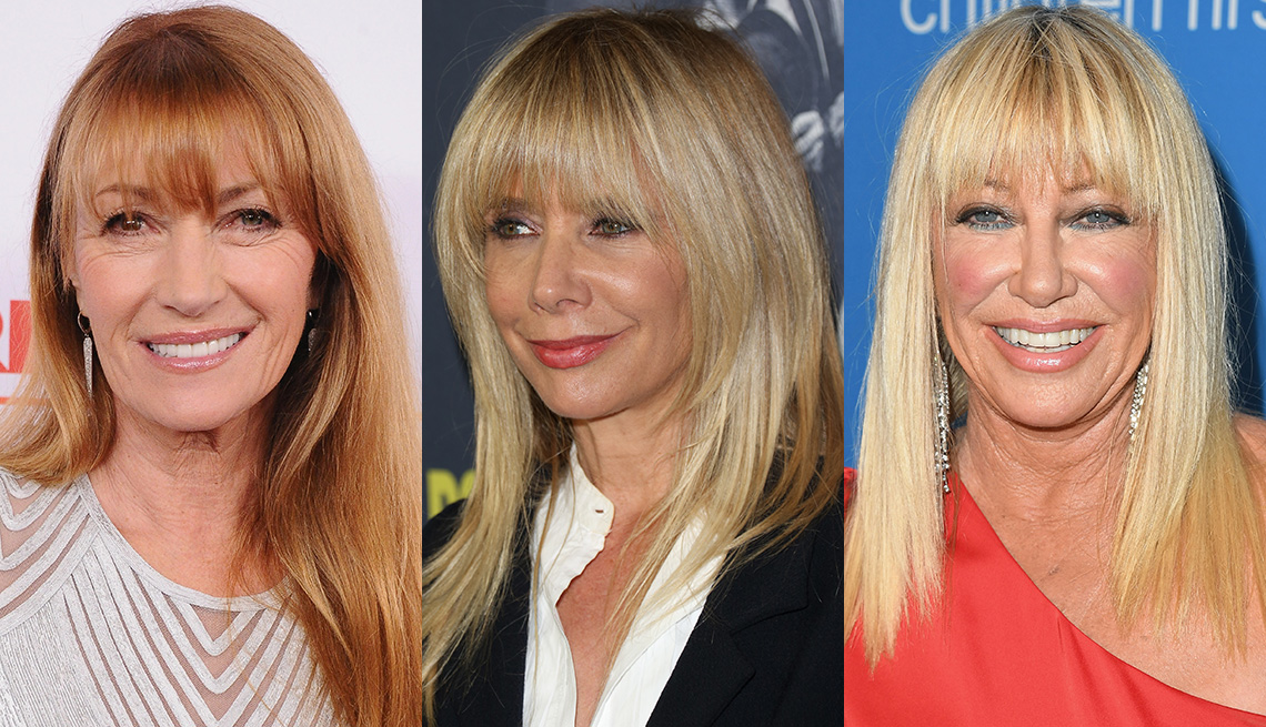 item 3 of Gallery image - Jane Seymour, Rosanna Arquette y Suzanne Somers con flequillos