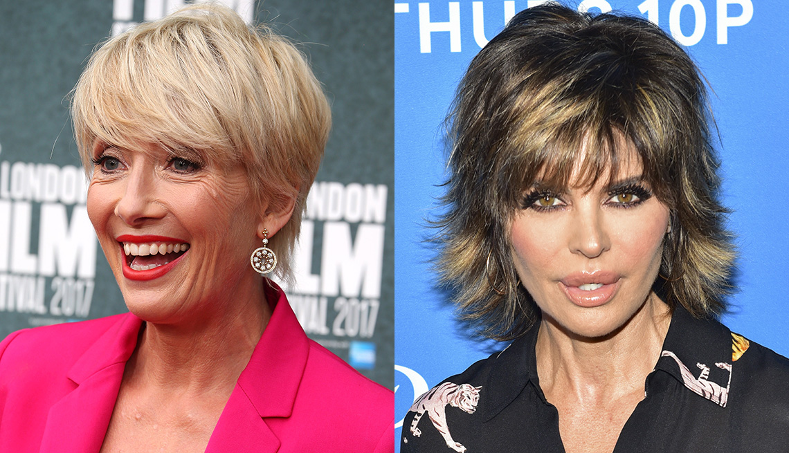 item 10 of Gallery image - Emma Thompson and Lisa Rinna with bangs