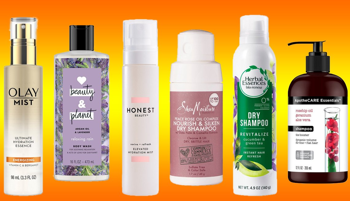 Various fall skin care products