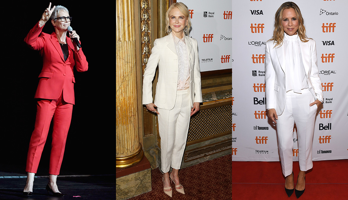 9c43ae36cdcac Jamie Lee Curtis, Nicole Kidman and Maria Bello wearing pants.
