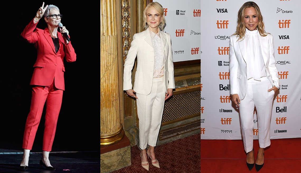 Jamie Lee Curtis, Nicole Kidman and Maria Bello wearing pants.