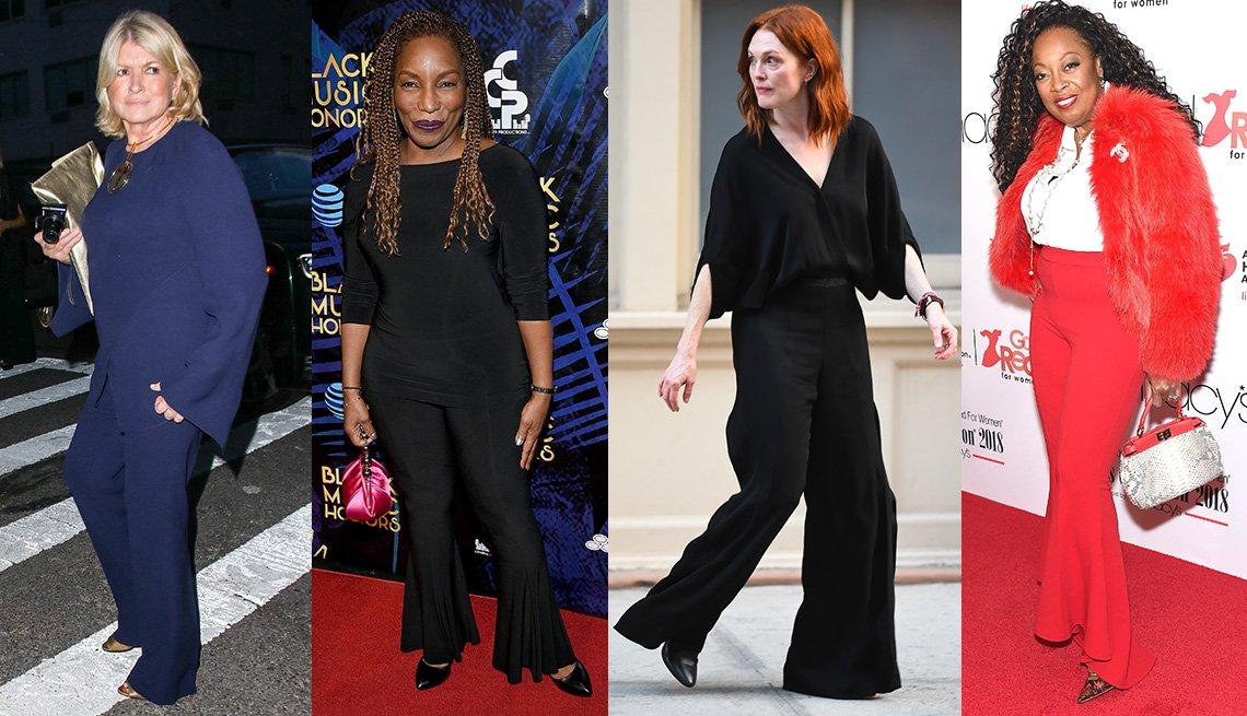 Martha Stewart, Stephanie Mills, Julianne Moore and Star Jones wearing pants.
