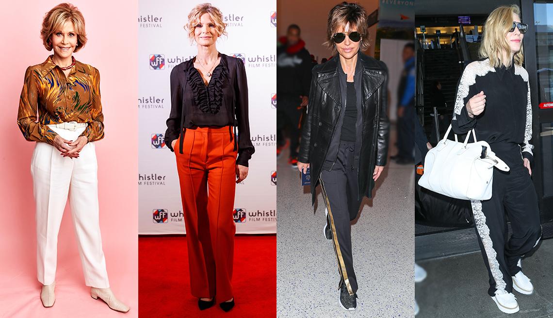Jane Fonda, Kyra Sedgwick, Lisa Rinna and Cate Blanchett wearing pants.