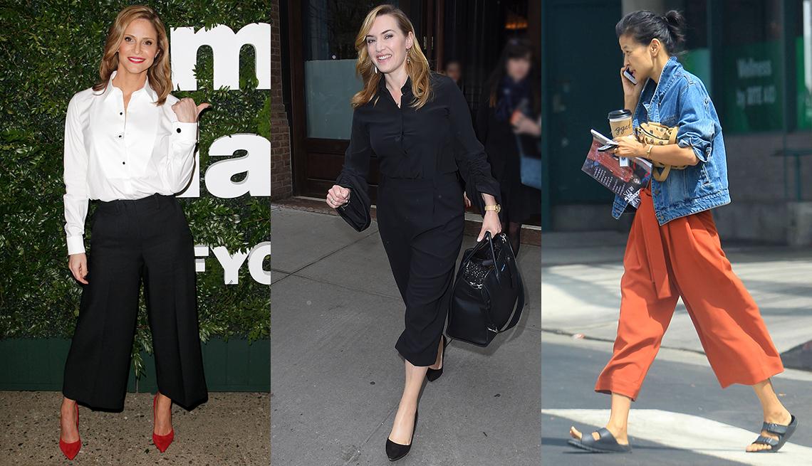 Andrea Savage, Kate Winslet and SuChin Pak  wearing pants.