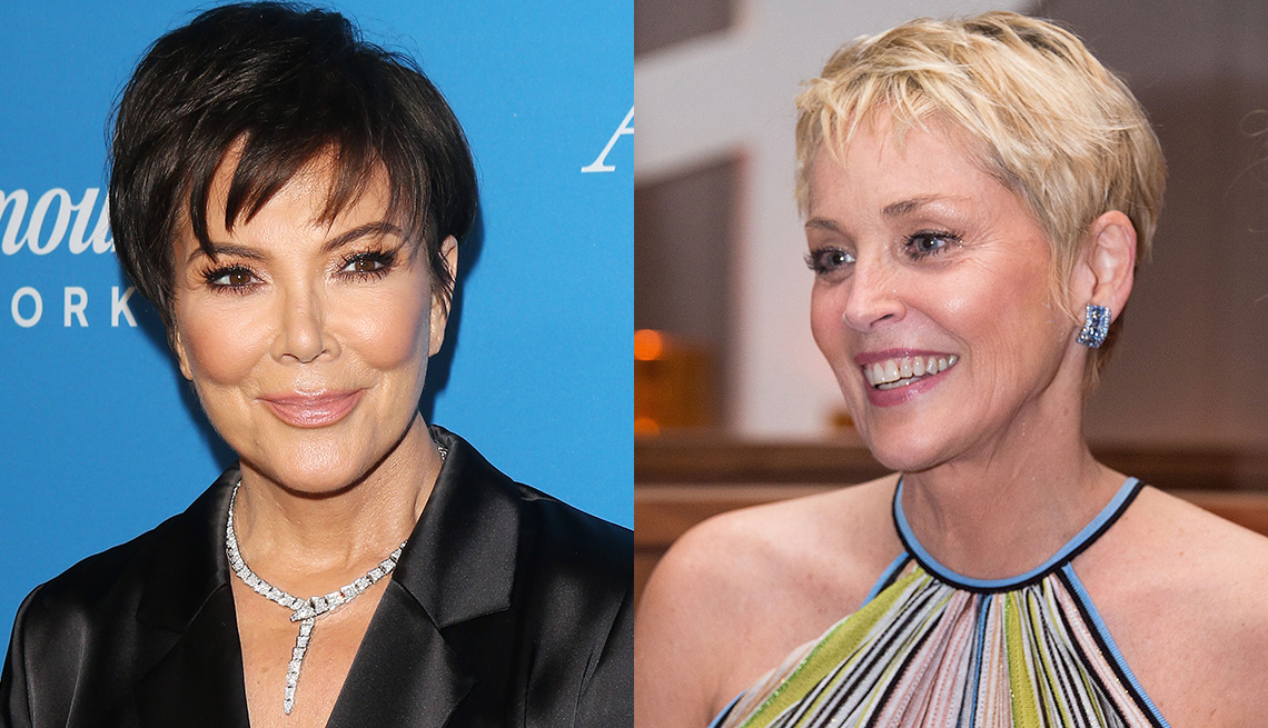 item 8 of Gallery image - Kris Jenner y Sharon Stone con flequillos