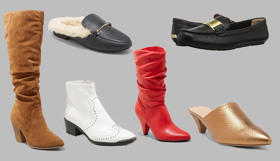 Various fall footwear styles