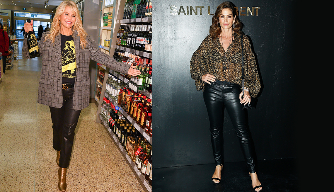 item 11 of Gallery image - Christie Brinkley and Cindy Crawford dressed up and cheerful.