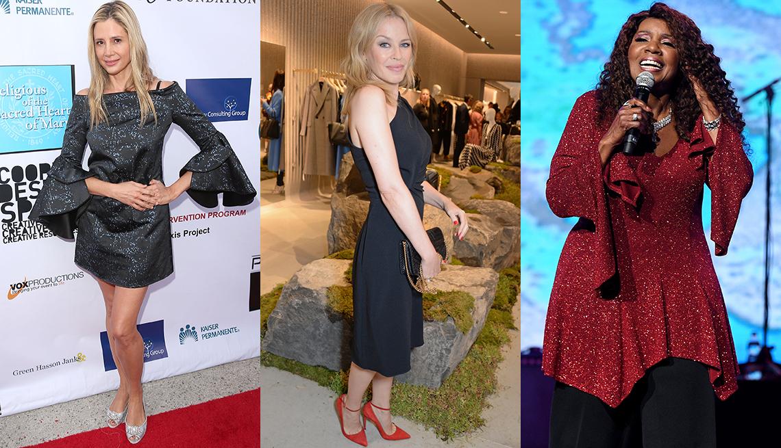 item 7 of Gallery image - Mira Sorvino, Kylie Minogue and Gloria Gaynor in various looks