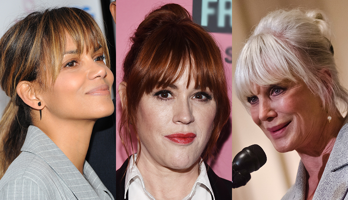 item 1 of Gallery image - Halle Berry, Molly Ringwald and Linda Evans with hair up and bangs