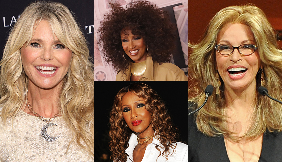 item 2 of Gallery image - Christie Brinkley, Iman Abdulmagid and Raquel Welch with fake hair