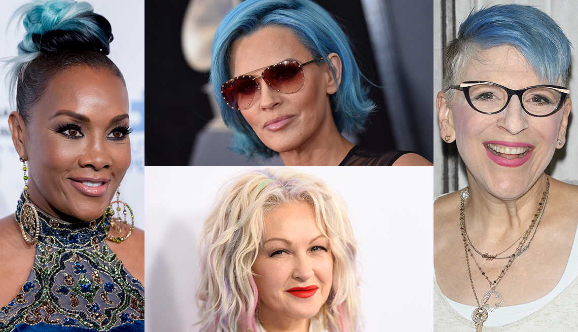 item 3 of Gallery image - Vivica A. Fox, Jenny McCarthy, Cindy Lauper and Lisa Lampanelli with colored hair