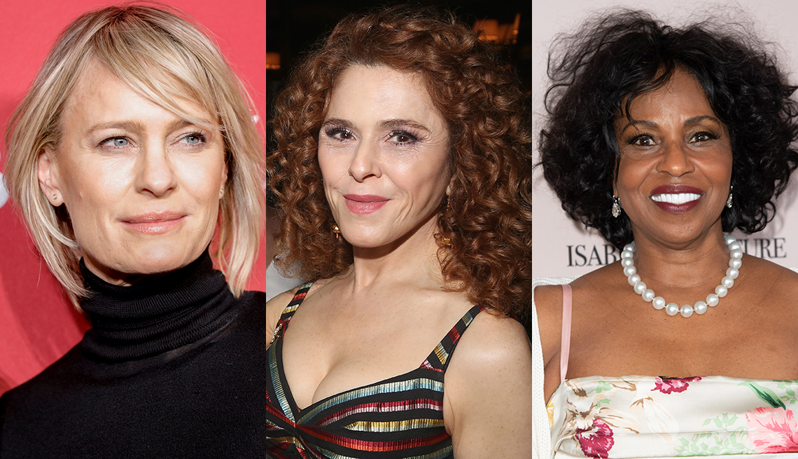 item 8 of Gallery image - Robin Wright, Bernadette Peters and Pauletta Washington with natural texture hair
