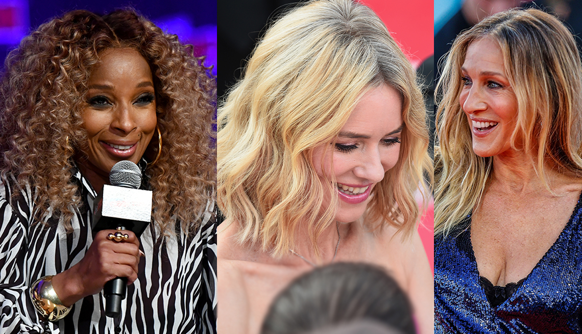 item 9 of Gallery image - Mary J. Blige, Naomi Watts and Sarah Jessica Parker with hair roots showing