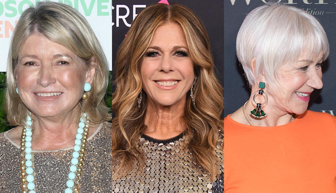 item 3 of Gallery image - Martha Stewart, Rita Wilson and Helen Mirren with various hair styles