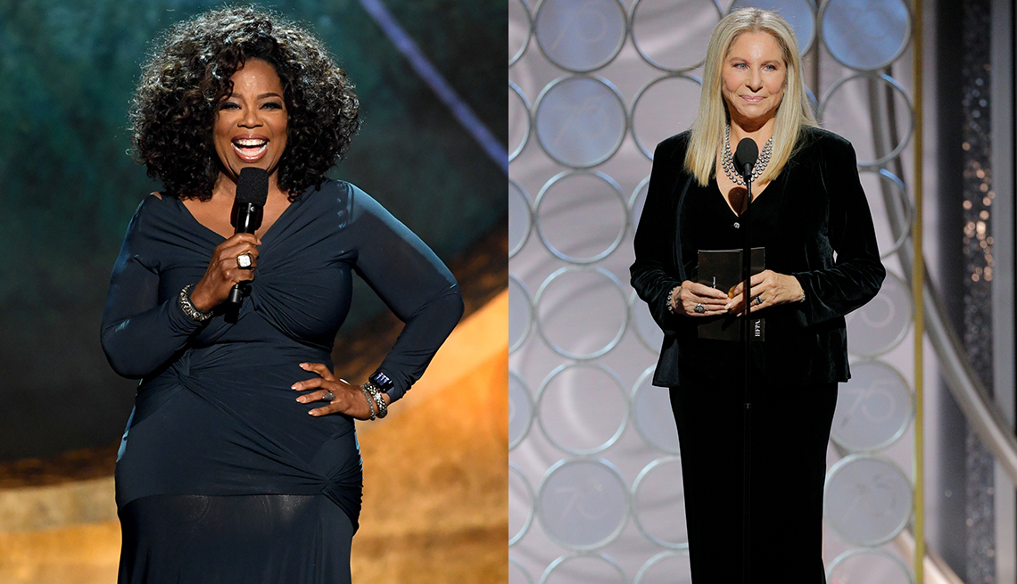 item 5 of Gallery image - Oprah Winfrey and Barbra Streisand looking stunning