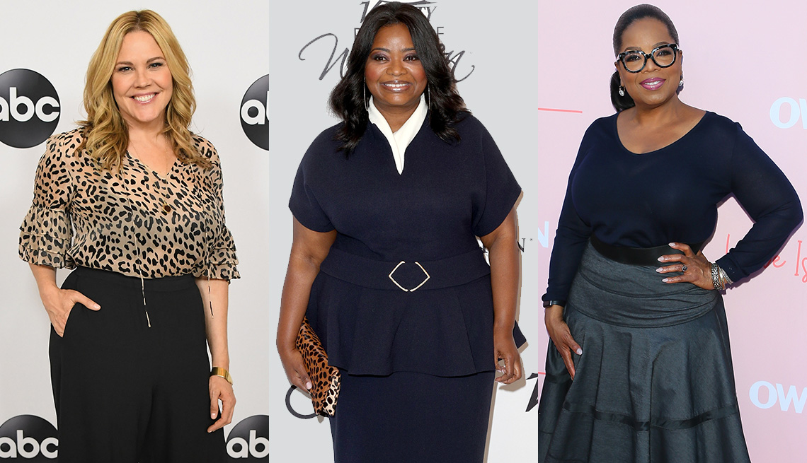 Mary McCormack, Octavia Spencer and Oprah Winfrey wearing dresses