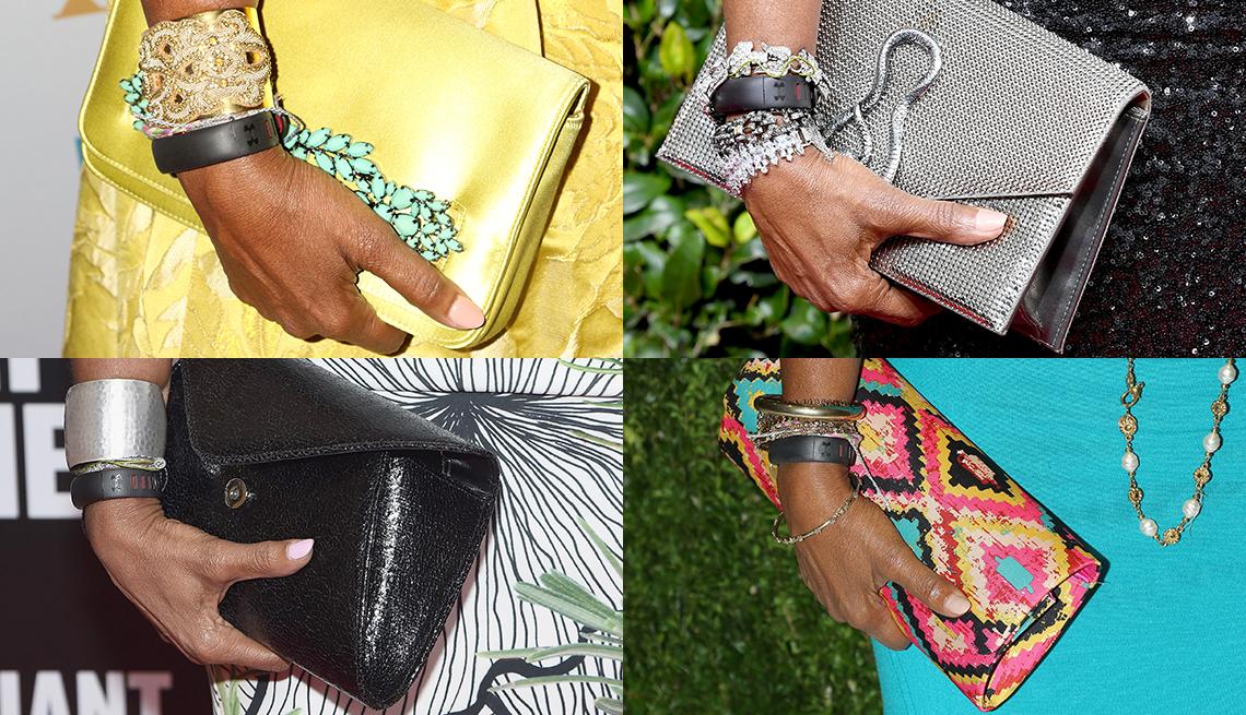 Gayle King wearing different bracelets