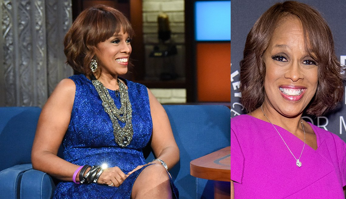 Gayle King wearing different style of necklaces