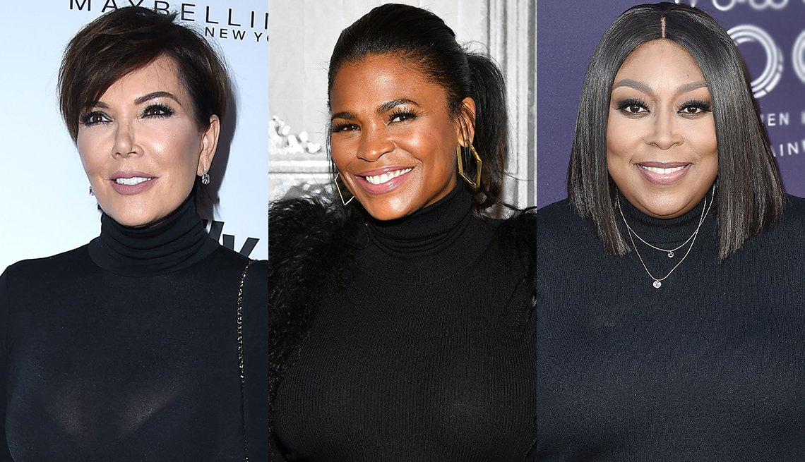 item 1, Gallery image. Black turtlenecks work, as (from left) Kris Jenner, Nia Long and Loni Love show us.