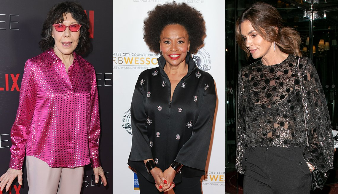 item 11, Gallery image. Steal the show with your top like (from left) Lily Tomlin, Jenifer Lewis and Cindy Crawford do.