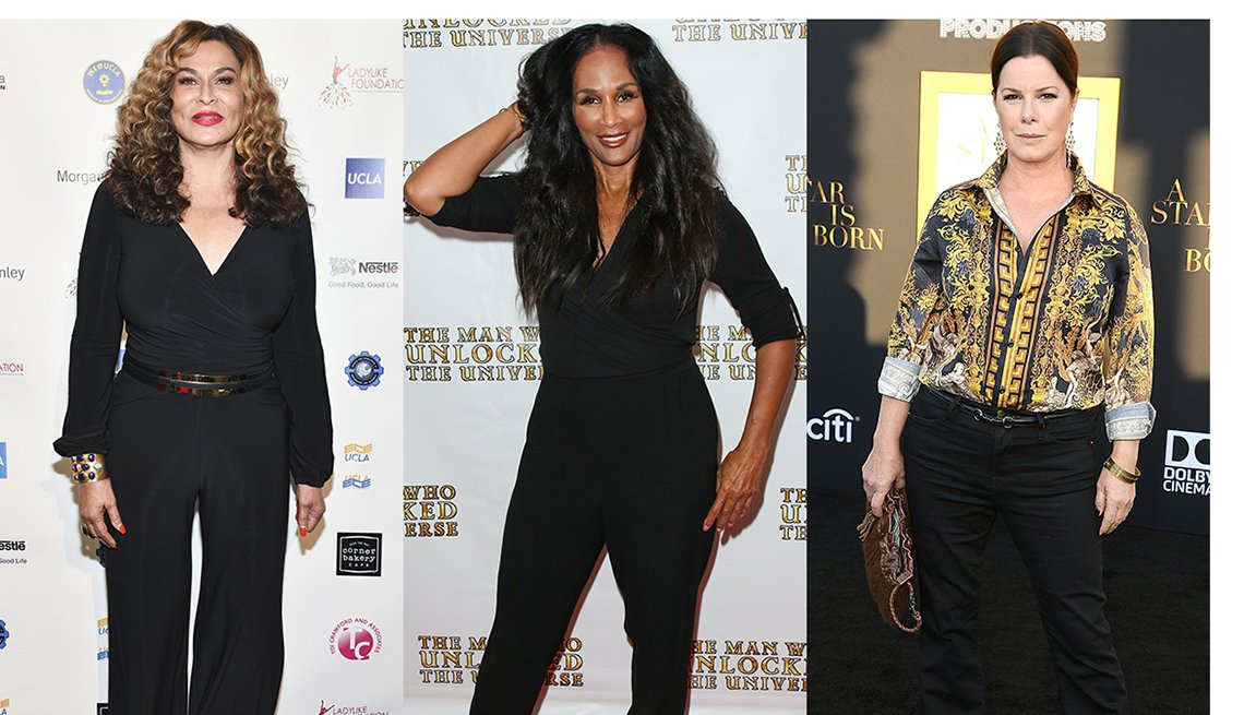 Tina Knowles, Beverly Johnson and Marcia Gay Harden with clothes that complement their thighs