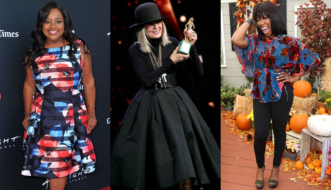 Sherri Shepherd, Diane Keaton and Tichina Arnold with outfits that match their top and bottom