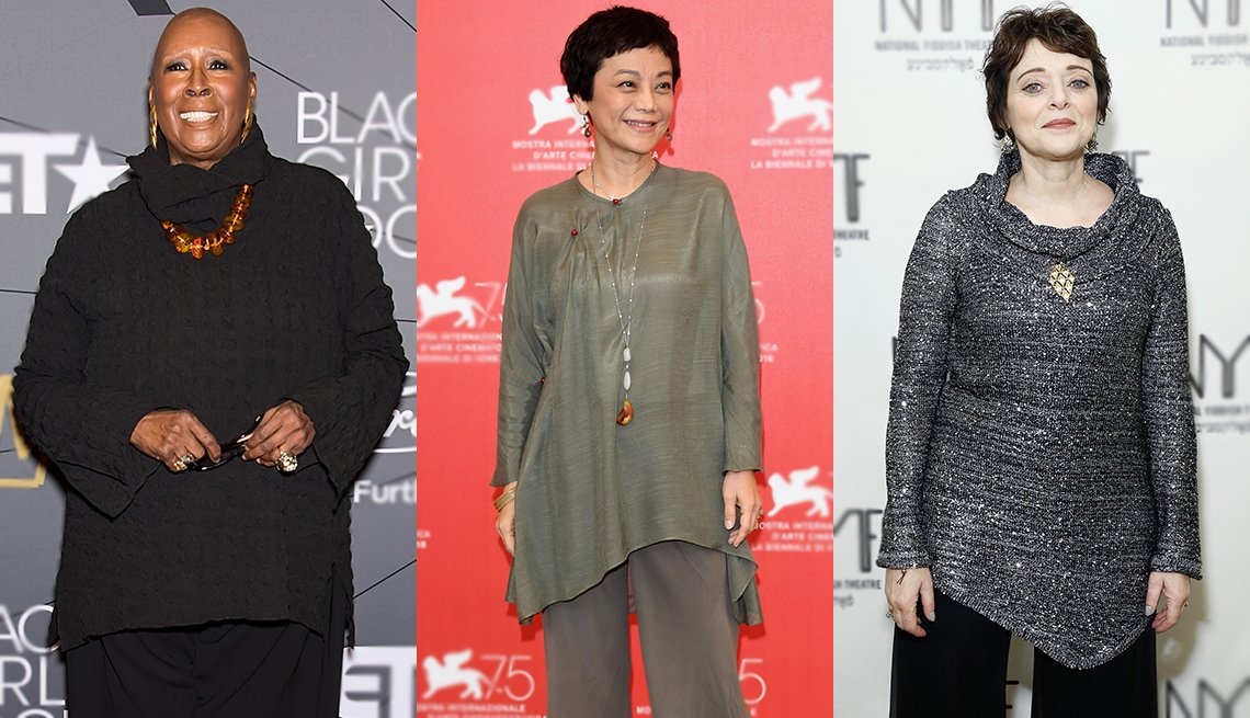 item 9, Gallery image. Long tops can be stylish as (from left) Judith Jamison, Sylvia Chang and Judith Blazer prove.