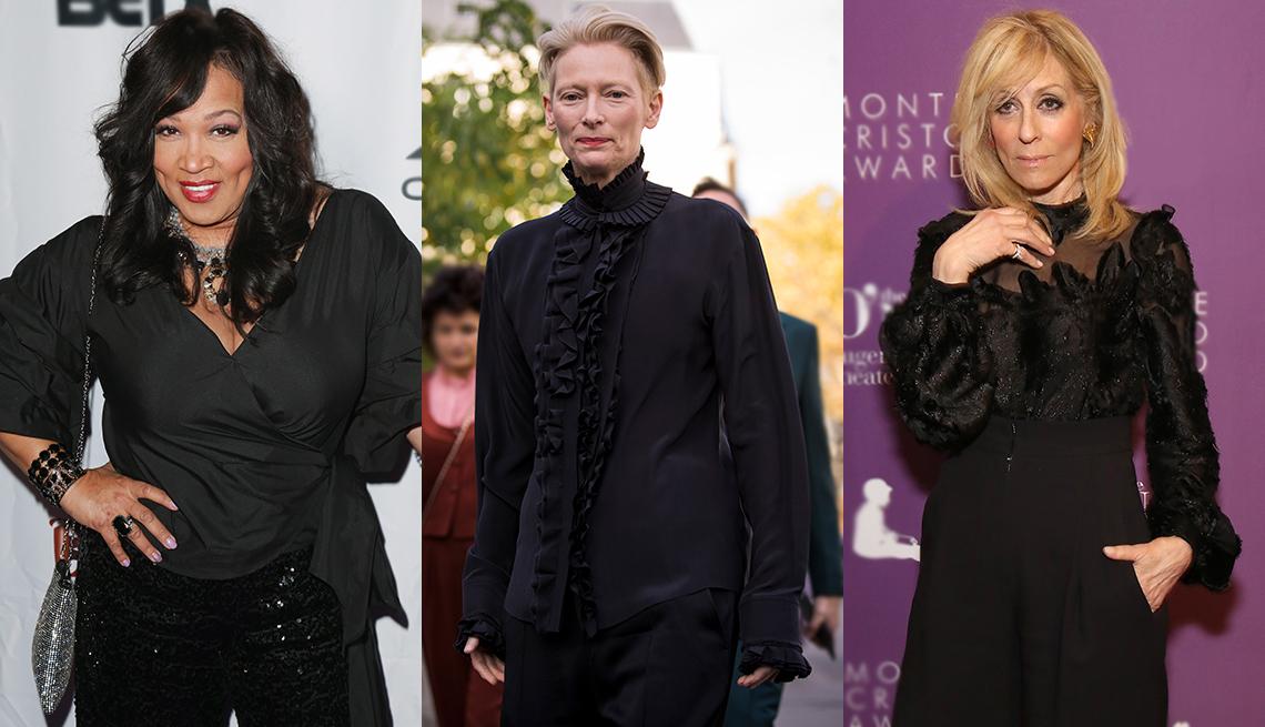 Kym Whitley, Tilda Swinton and Judith Light in black tops
