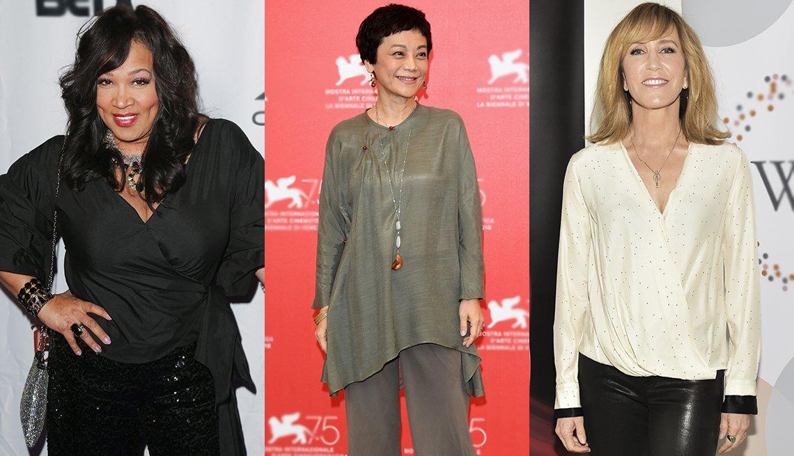 Kym Whitley, Sylvia Chang and Felcitiy Huffman in various tops.