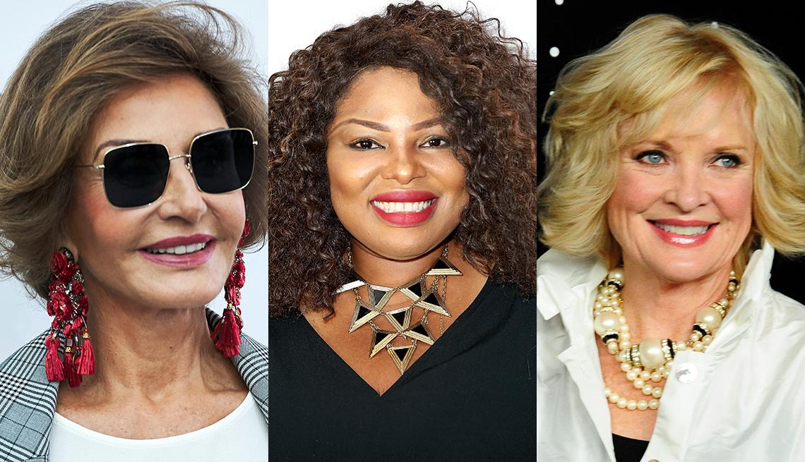 item 3 of Gallery image - Model Nati Abascal, Oghenekaro Itene and Christine Ebersole wearing statement jewelry