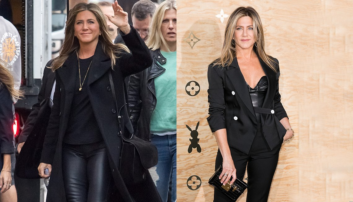 item 11 of Gallery image - Jennifer Aniston in black leather