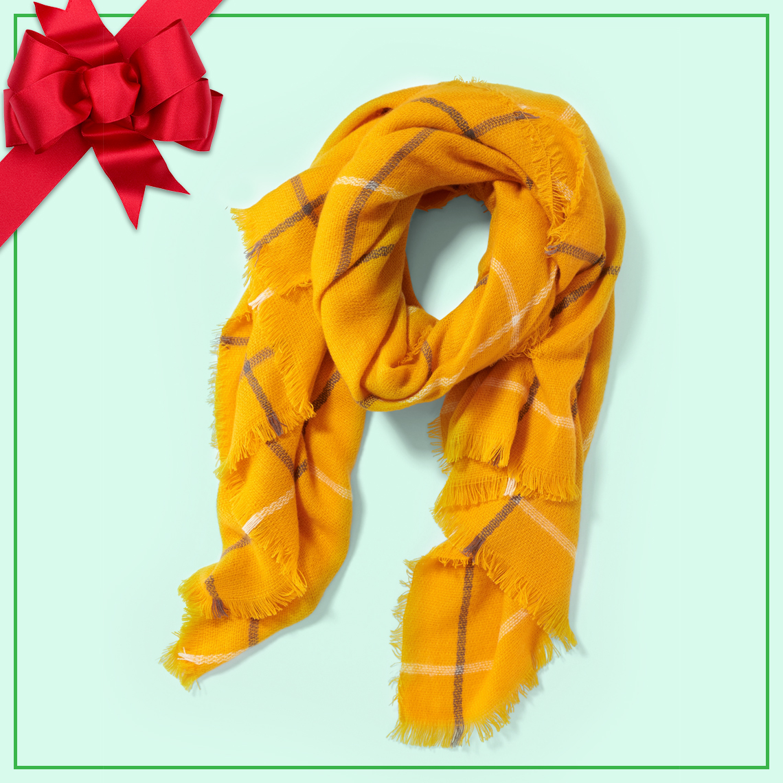 A gold scarf