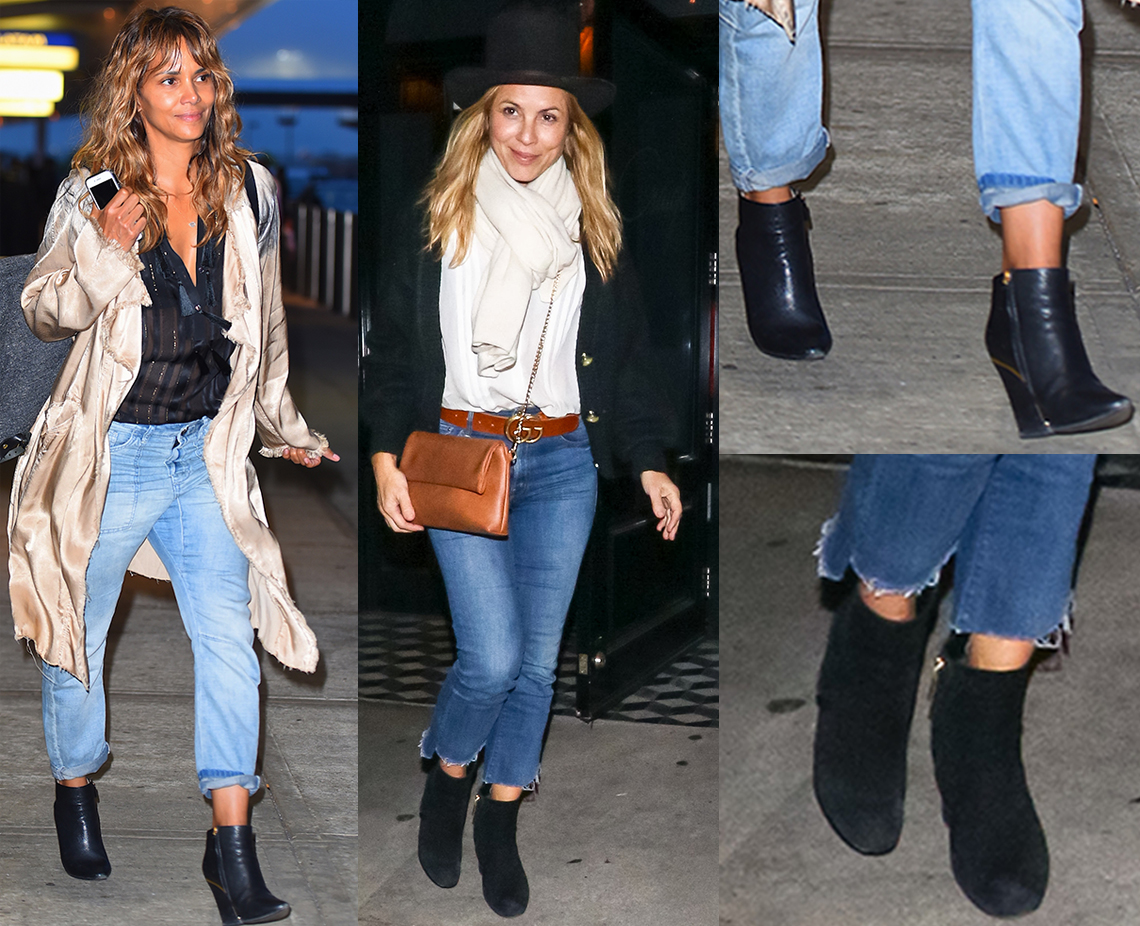 Halle Berry and Maria Bello wearing ankle boots
