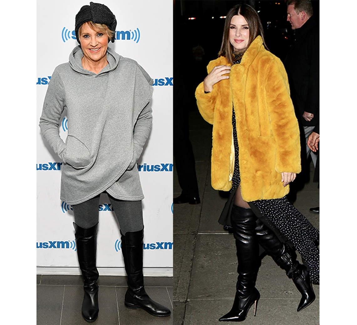 Lorna Luft and  Sandra Bullock in over the knee boots
