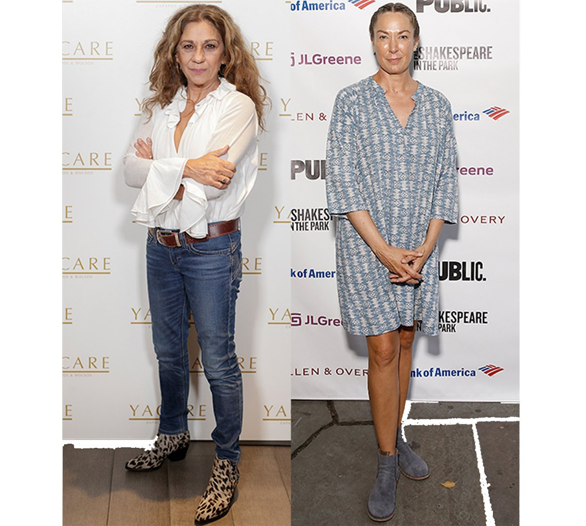 Lolita Flores and Elizabeth Marvel in colorful boots