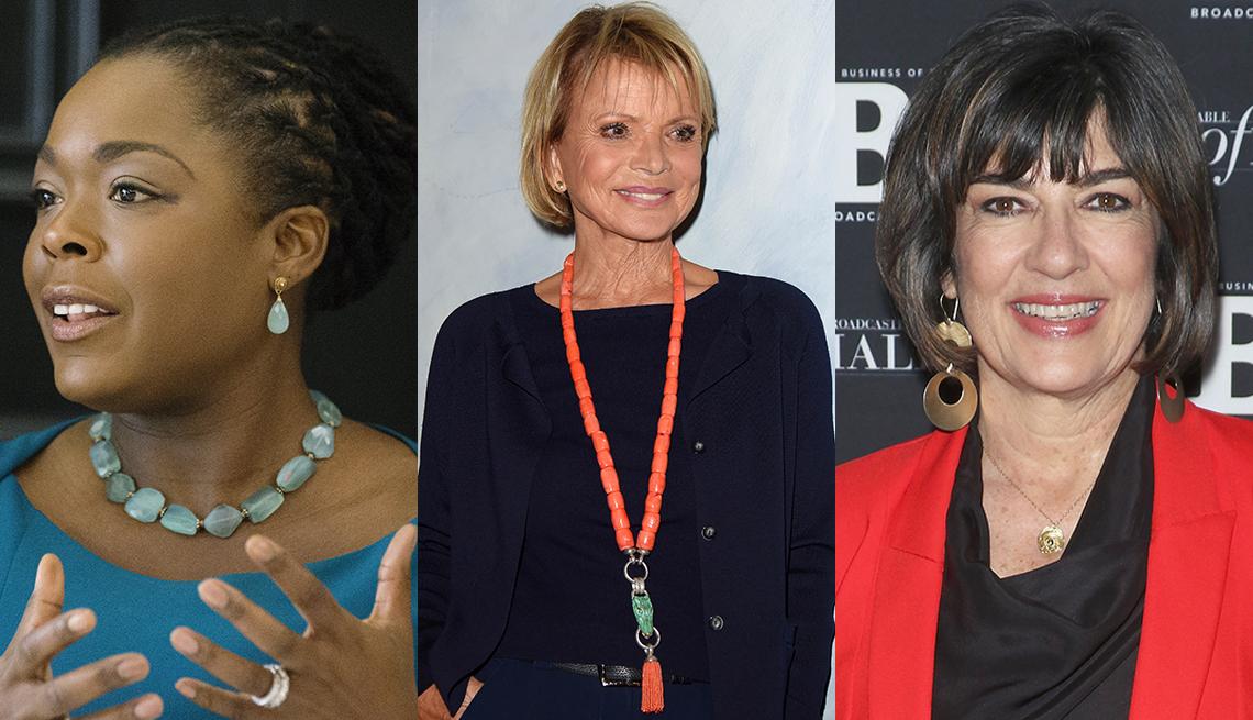 Women wearing bold jewelry