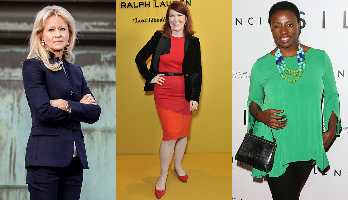 Annika Falkengren, Kate Flannery and Joni Bovill in various interview clothes