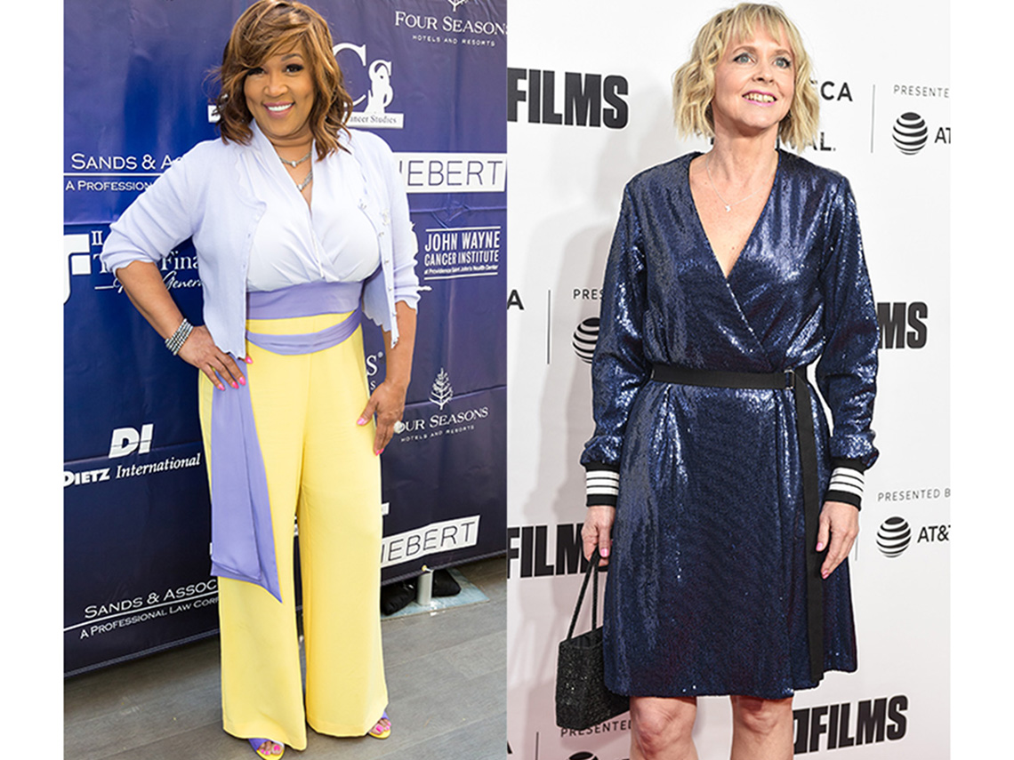 Kim Whitley and Bronwyn Berry's clothes create shape above the waist.