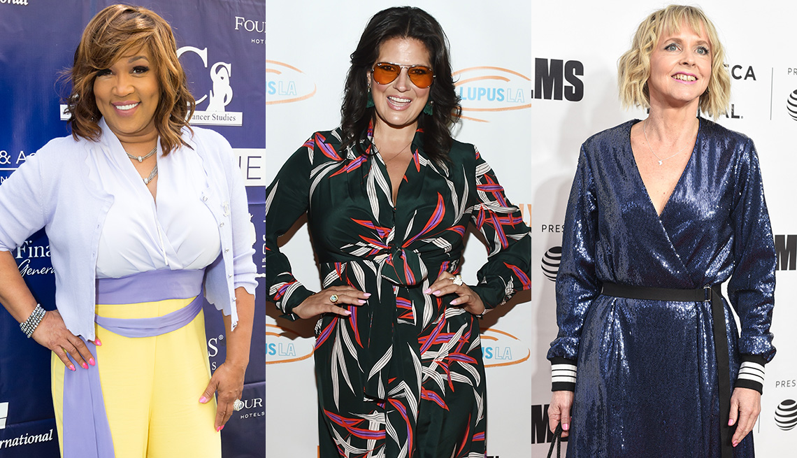 Women wearing various stylish clothes despite weight gain