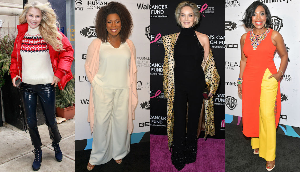 L to R: Christie Brinkley, Lorraine Toussaint, Sharon Stone, Sheryl Lee Ralph