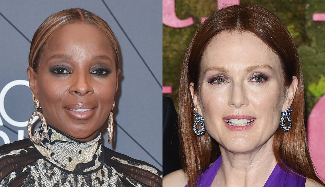 Mary J Blige y Julianne Moore