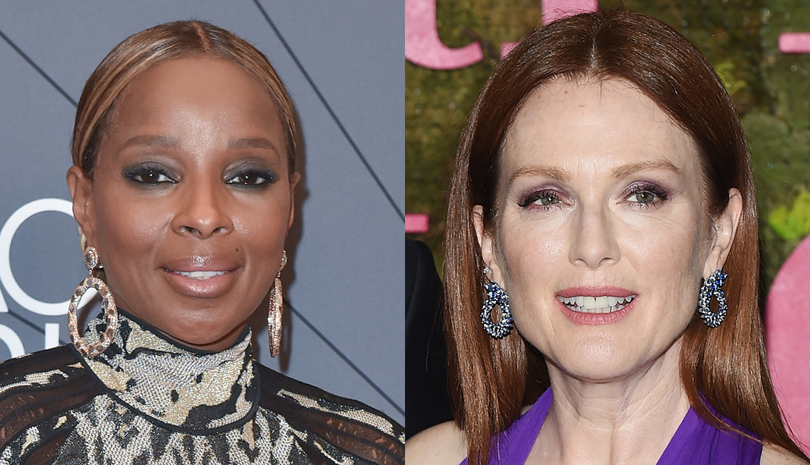 Mary J Blige and Julianne Moore