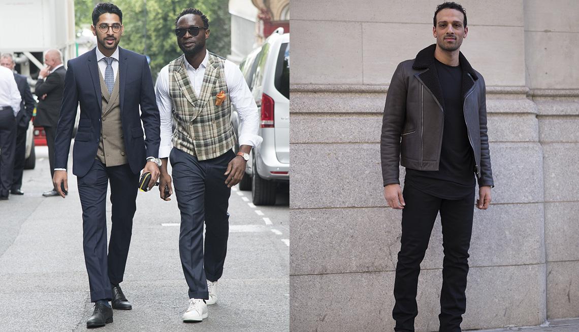 Modelos muestran la última moda para hombres