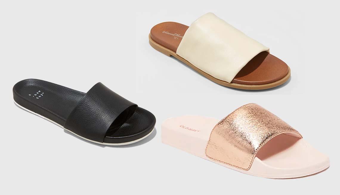 item 11 of Gallery image - A New Day Aveline Sport Slide Sandals in Black; Universal Thread Gigi  Hooded Slide Sandals; Universal Thread Gigi  Hooded Slide Sandals